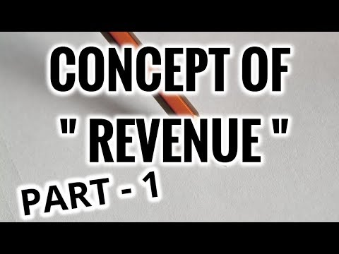 Concept Of Revenue - Microeconomics - Part I