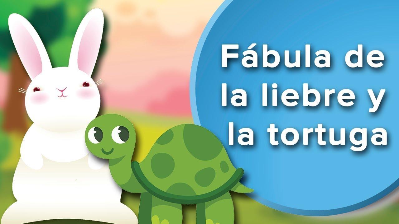 Fábula de la liebre y la tortuga para niños  | Fábula con subtítulos