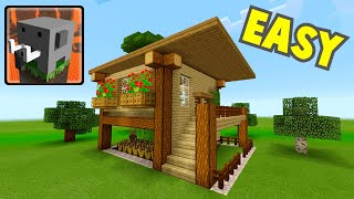 How To Make  SURVIVAL HOUSE In Craftsman:building Craft (MCPE Survival House)