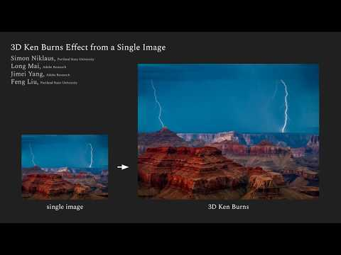 3D Ken Burns Effect from a Single Image - Promo