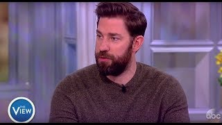 John Krasinski Talks Working With His Wife, Reacts To Tweets About 'A Quiet Place' | The View