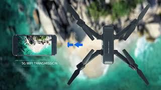 Snaptain sp510 складной gps fpv дрон с 2 7 k камерой для взрослых uhd видео радиоуправляемый