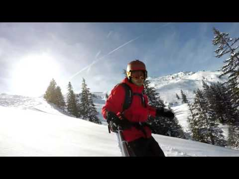 Freeride Powder tag in Engelberg jones hovercraft snowboard ( gopro 4 black)