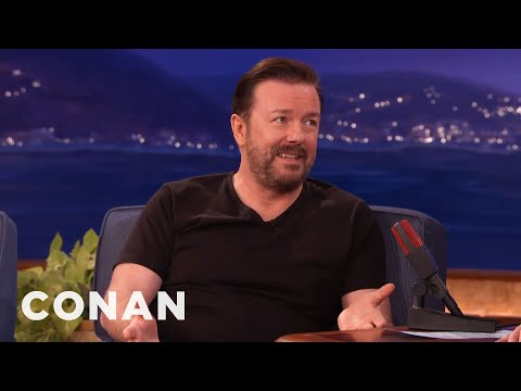 The Ricky Gervais Joke That's Too Hot For The Golden Globes  - CONAN on TBS
