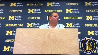 Brady Hoke Discussing QB Situation Heading into Minnesota 9-22-14