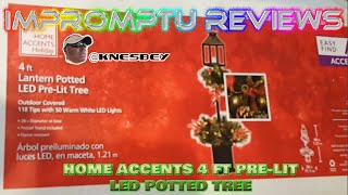 HOME ACCENTS HOLIDAY 4 FT PRE LIT LED POTTED TREE LANTERN