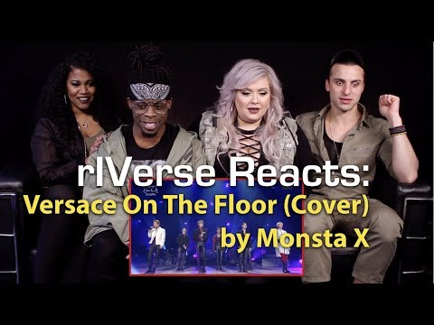 RIVerse Reacts: Versace On The Floor (Cover) By Monsta X - Live Performance Reaction