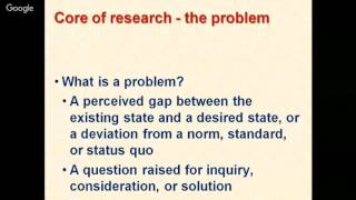 Identification of Research Problem & writing of hypotheses by Dr Sunil Dutt
