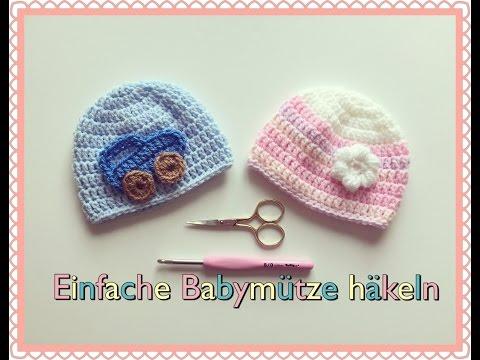 SUPER EINFACHE Babymütze 0-6 Monate häkeln für Anfänger