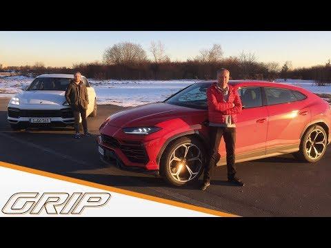 Lamborghini Urus gegen Porsche Cayenne Turbo   Niki Schelle vs. Jan Seyffarth   GRIP