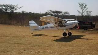 preview picture of video 'Eurofox Short field takeoff Bush pilots'