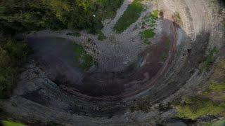Devil's Punchbowl FPV race drone dive