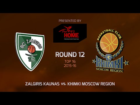 Highlights: Top 16, Round 12, Zalgiris Kaunas 71-76 Khimki Moscow Region
