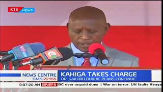 Nyeri county now have their fourth governor after Mutahi Kahiga was sworn in yesterday