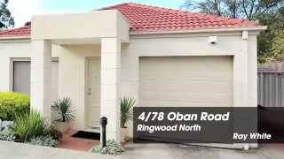 4/78 Oban Road, Ringwood. Agent: Trish Davie