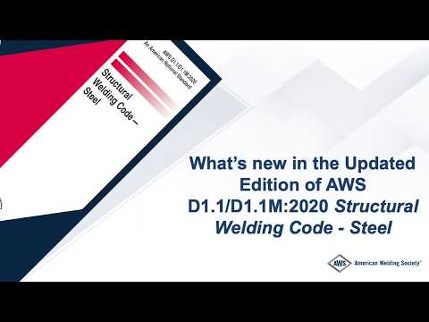What's new in the 2020 edition of AWS D1.1, Structural Welding ...