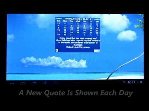 Video of Inspirational Quotes Calendar