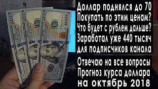 Прогноз курса доллара на октябрь 2018: курс рубля падает, доллар рубль, что будет дальше с рублем