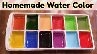 Homemade paint/homemade watercolor paints/how to make color at home/non- toxic paint/finger painting