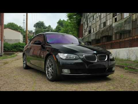 """2009 BMW 328i VMR 18"""" 710 Gunmetal Wheels Before and After"""