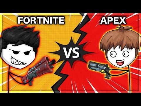 When a Fortnite Gamer Plays Apex Legends | Fortnite vs Apex Legends