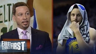 Chris Broussard: Warriors look vulnerable after blowout loss to Celtics | NBA | FIRST THINGS FIRST