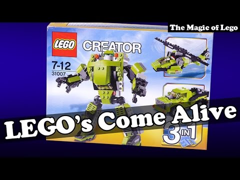 Download Lego Creator Power Mech 31007 3 in 1 robot truck helicopter assemble themselves. HD Mp4 3GP Video and MP3