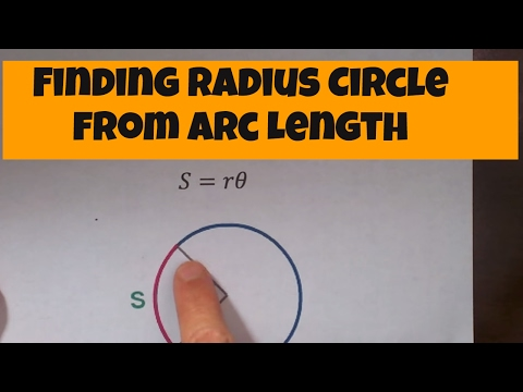 Finding radius circle from arc length-Geometry Help-MooMooMath