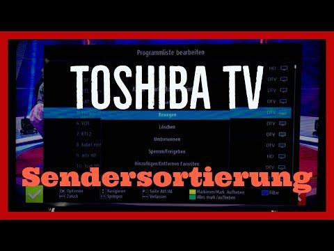 Toshiba TV Sender Sortieren Tutorial
