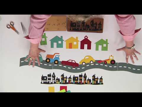 Create a Community Bulletin Board House Border | Ellison Education Lesson #12150