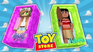 Minecraft TOYSTORE : THE STORE IS FLOODED! | Moana | w/LittleKellyandCarly (CustomRoleplay)