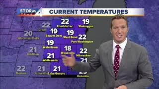 Temps drop tonight into tomorrow, snow Wednesday