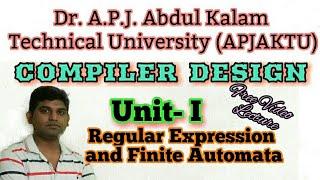 L8:Compiler Design tutorial in hindi, Regular Expression, Finite Automata in Hindi by vishwakarma ji