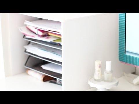 DIY Schreibtisch Ablage