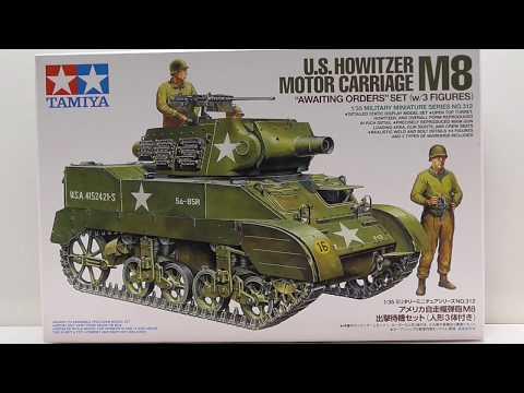 TAMIYA 35312 Howitzer M8 Motor Carriage W//3 Figures 1:35 Military Model Kit