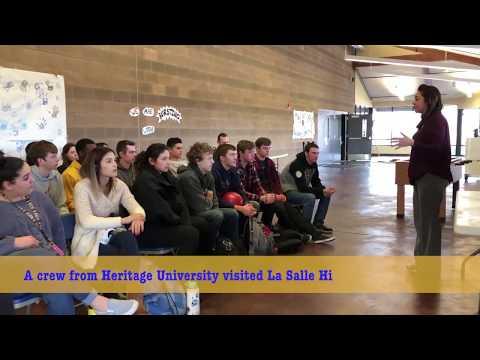 La Salle High School Hat Drop