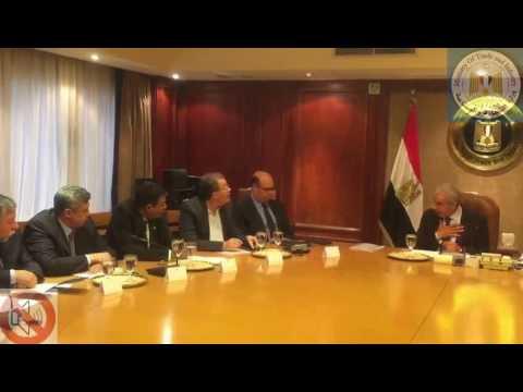 لقاء المهندس/طارق قابيل وزير التجارة والصناعة بأعضاء شعبة المحاجر بإتحاد الصناعات