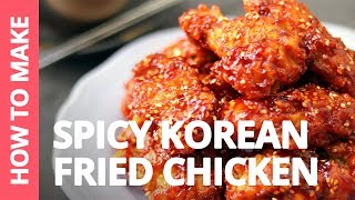 How to make Spicy Korean Fried Chicken | Recipe by Plated Asia