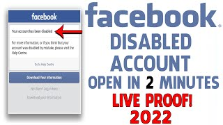 How To Open Disabled Facebook Account | How To Open Facebook Disabled Account | Open Disabled Fb ID
