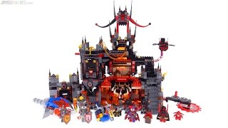 LEGO NEXO Knights Jestro's Volcano Lair review! 70323