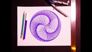 Learn To Paint Triple Nautilus Spiral Geometric Art | Spirograph Pattern Tutorial