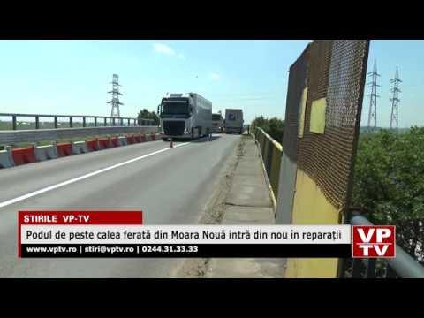 Podul de peste calea ferată din Moara Nouă intră din nou în reparații