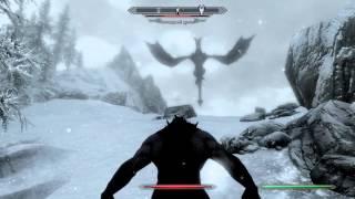 The Elder Scrolls 5.Skyrim. Оборотень против Легендарного дракона.