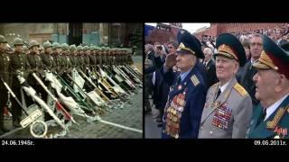 24 июня 1945 - 09 мая 2011. Москва. Красная площадь. Парад.