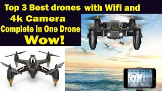 Top 3 || Best drones 2020 || best drone for beginners || 4k camera with Wifi with App controler