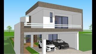 Como dise ar casa con locales comerciales oax for Casa minimalista 7x20