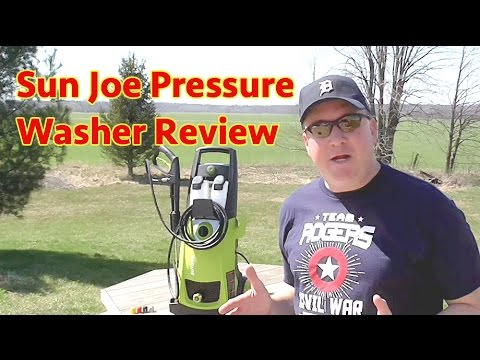 Sun Joe Electric Pressure Washer Demonstration & Review
