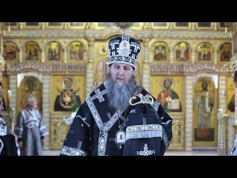 В Великую Пятницу митрополит Даниил совершил вечерню с выносом Плащаницы