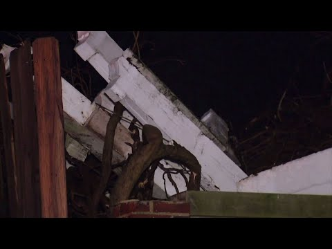 The National Weather Service confirms that two tornadoes struck Columbus, Mississippi as violent storms rolled through. Officials say one woman was killed and 12 people were injured. (Feb. 25)