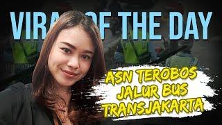 VIRAL HARI INI: Nasib Pengendara Plat Merah Terobos Jalur Transjakarta